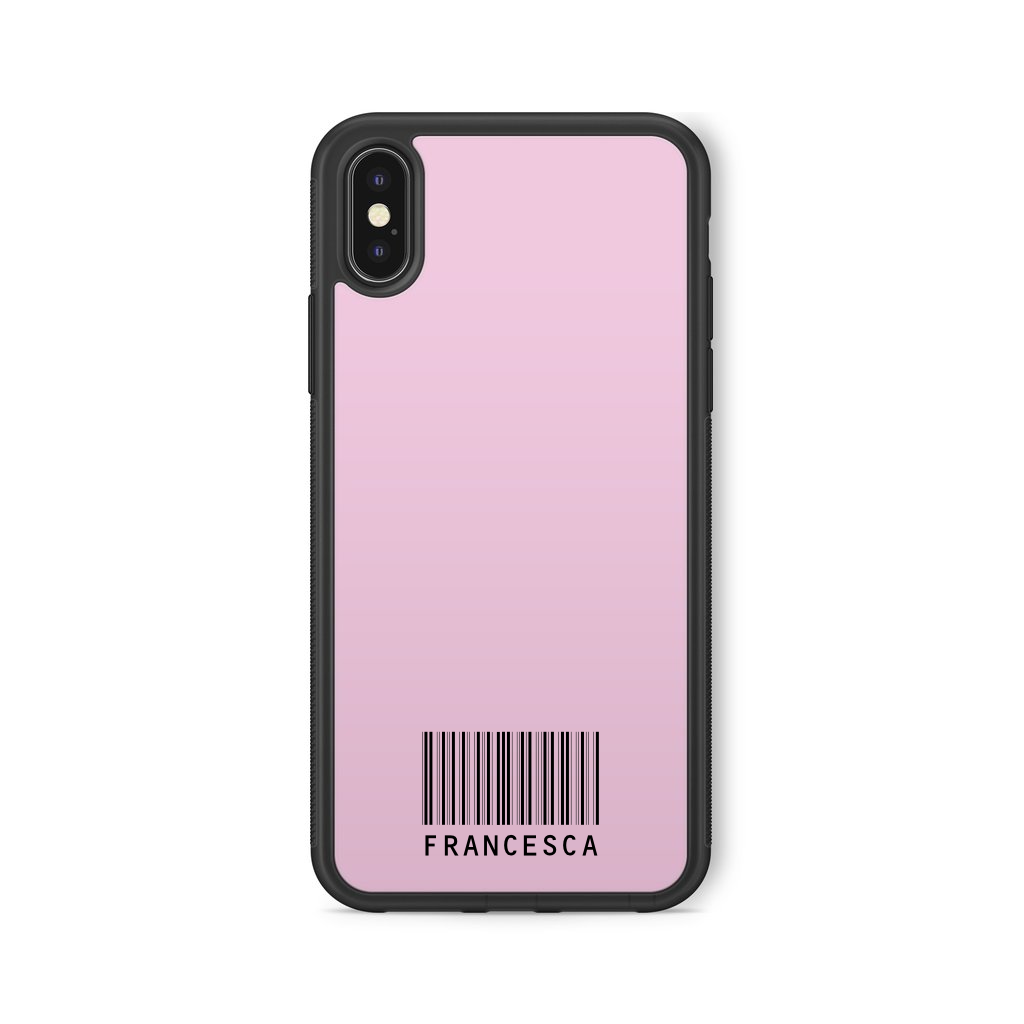 COVER NOME BARCODE ROSA NERA
