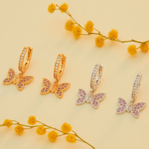 Pendientes Butterfly  White Gold