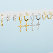 Pendientes Cross White gold