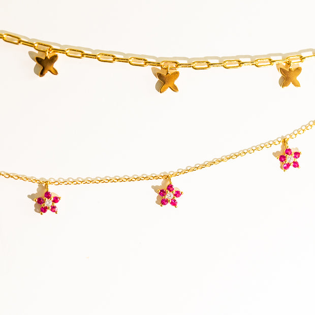 Collar Butterflies Gold