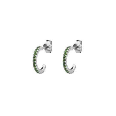 Pendientes Emerald White gold