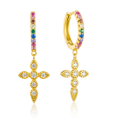 Pendientes Cross Gold colors