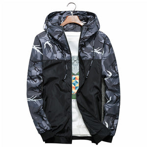 Military Jacket Hooded Windbreaker