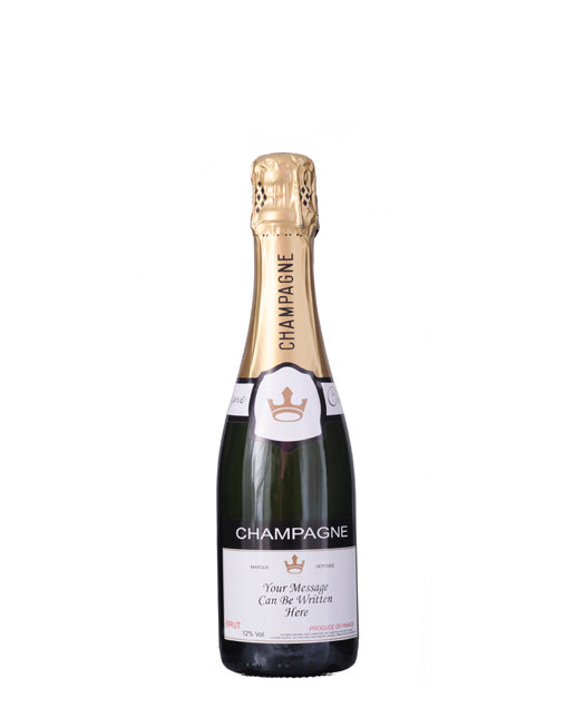 Personalised Champagne Half Bottle (3 x 375 ml Half Bottle)