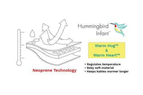 Neoprene Warm Hug Bath Swaddle Warm Heart Bath Bib
