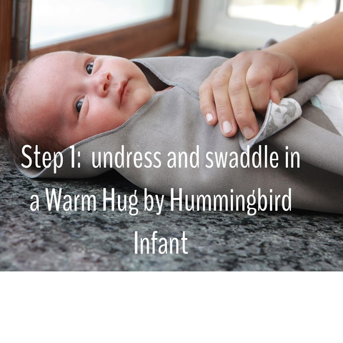 step 1 hospital recommends swaddle bath from birth