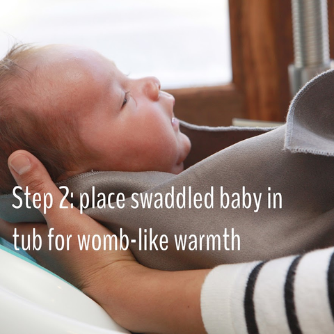 Step 2 hospitals recommend swaddle bath from birth