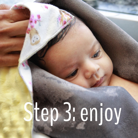 step 3 hospitals recommend swaddle bath from birth