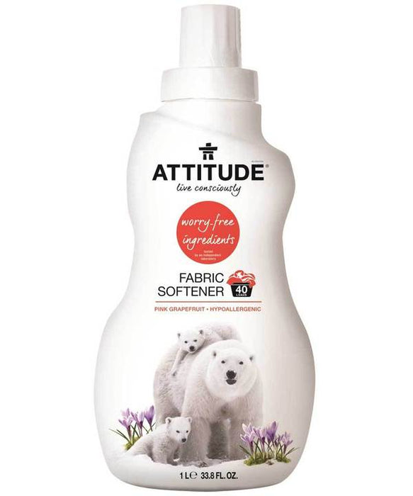 Attitude Fabric Softener - Pink Grapefruit, 1L