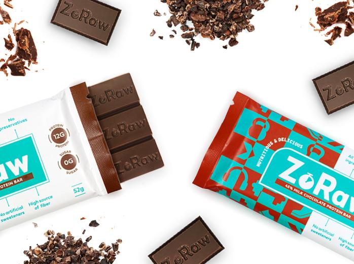 3 Pack- ZoRaw Bar-Protein Milk Chocolate Bar (45% Cacao)