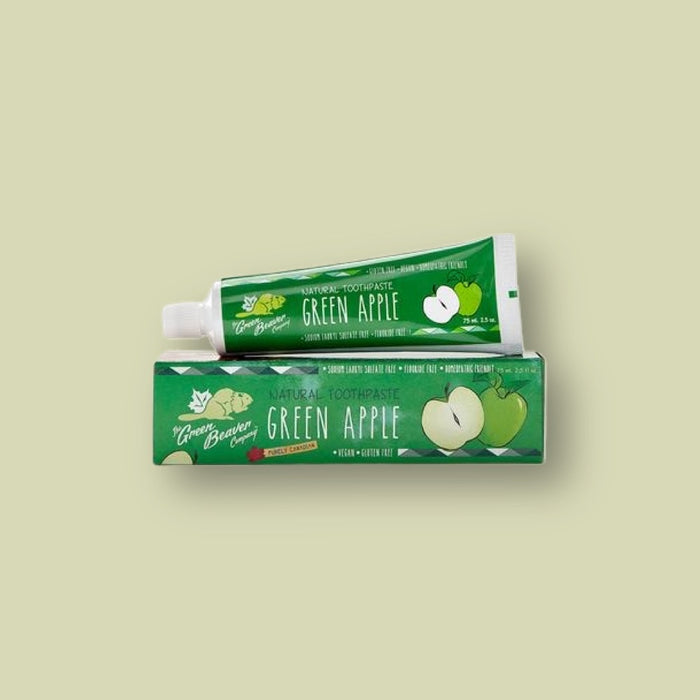 2 Pack - Green Beaver Green Apple Natural Toothpaste - 75 ml