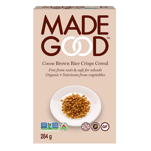 Made Good Organic Brown Rice Crisps Cereal, Cocoa, 284g