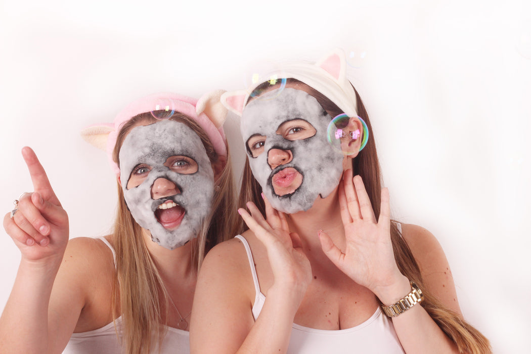5 Pack - MaskerAide Bubble Bubble Pop Charcoal Bubble Sheet Mask