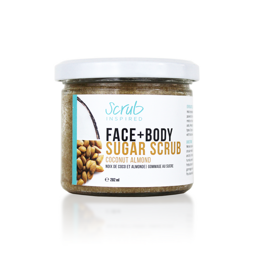 Scrub Inspired -Coconut Almond - Face & Body Scrub