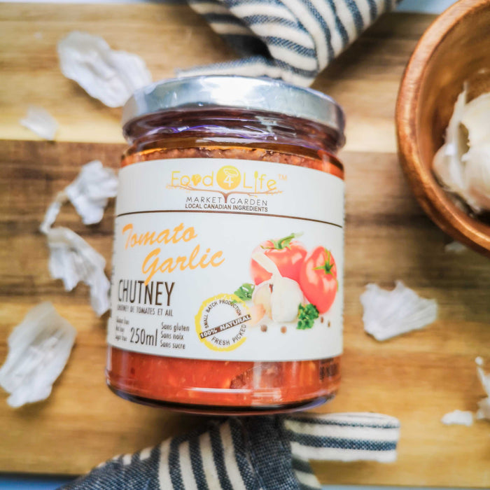 Food 4 Life - Tomato Garlic Chutney - 250ml