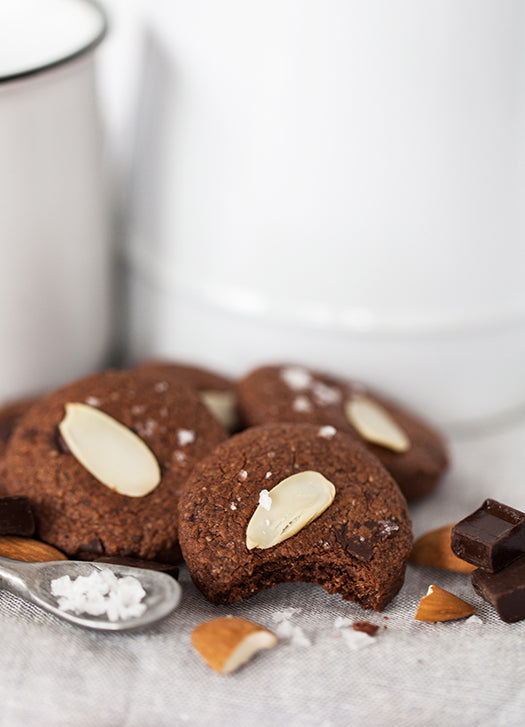 Real Treat - Gluten Free -Dark Chocolate Cookies with Almonds & Sea Salt