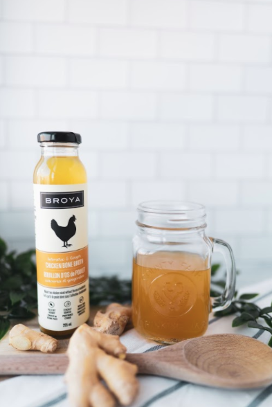Broya Bone Broth - Turmeric & Ginger Chicken Bone Broth 295ml