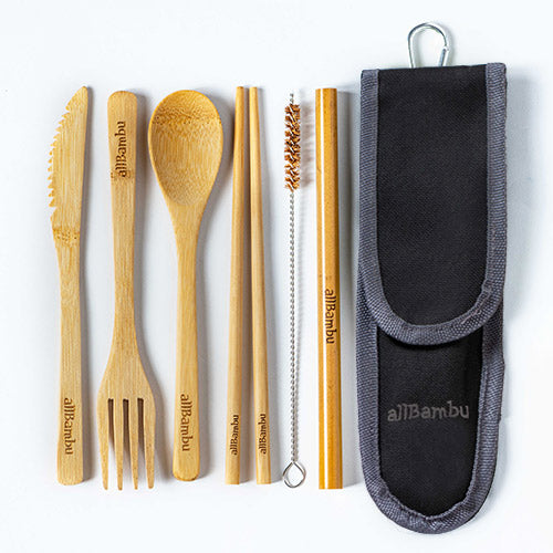 allBambu - Adult Bamboo Cutlery Set