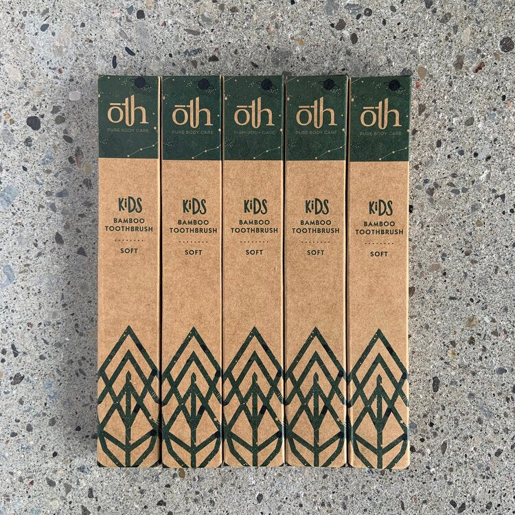 ōTH Pure Body Care -1 Year Supply- Kids Bamboo Toothbrushes