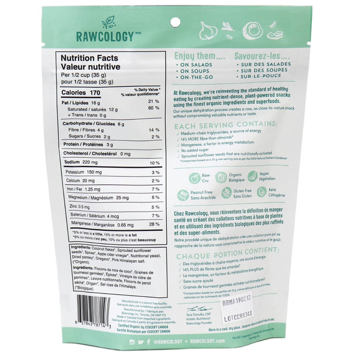 Rawcology Rockin' Ranch Superfood Coconut Chips, 90g
