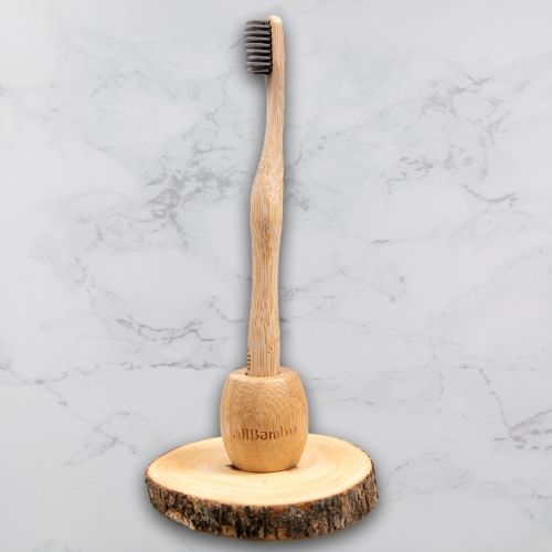 AllBambu - Bamboo Toothbrush Holder