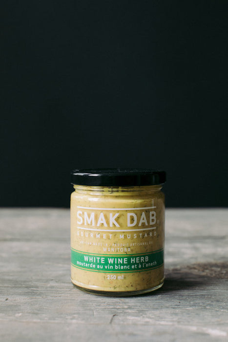 Smak Dab Mustard: White Wine Herb - 250ml