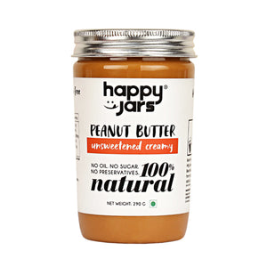 Natural Peanut Butter Unsweetened Creamy - V-Circle Wellness