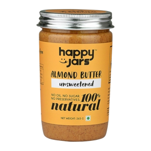 Natural Almond Butter - Unsweetened 265g - V-Circle Wellness