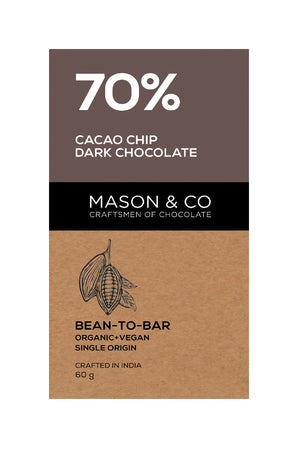 70% Cacao Chip Dark Chocolate Bar - V-Circle Wellness
