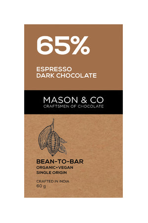 65% Espresso Dark Chocolate Bar - V-Circle Wellness