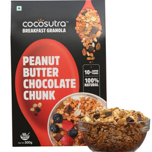 Granola Peanut Butter Chocolate Chunk 300gms - V-Circle Wellness