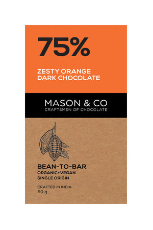 75% Zesty Orange Dark Chocolate - V-Circle Wellness