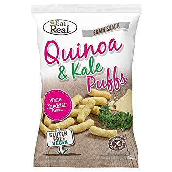 100% Vegan Quinoa & Kale Puffs - White Cheddar Flavour (Big Bag 113g)