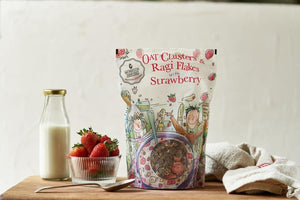 Cereal - Oat Clusters & Ragi Flakes With Strawberry 350 gms - V-Circle Wellness