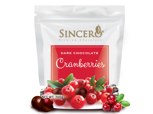 Cranberry Coated with Dark Chocolate 120 g