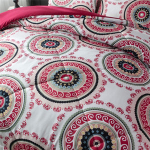 Red Mandala Bedding - Tapestry Girls