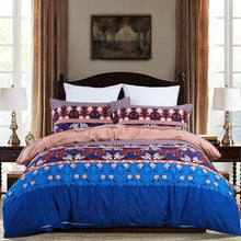 Load image into Gallery viewer, Blue Bohemian Bedding