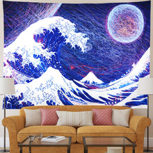 Load image into Gallery viewer, Abstract Wave Tapestry - Tapestry Girls