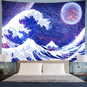 Abstract Wave Tapestry - Tapestry Girls