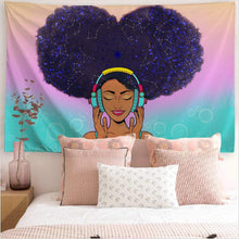 Load image into Gallery viewer, Afro Music Tapestry - Tapestry Girls
