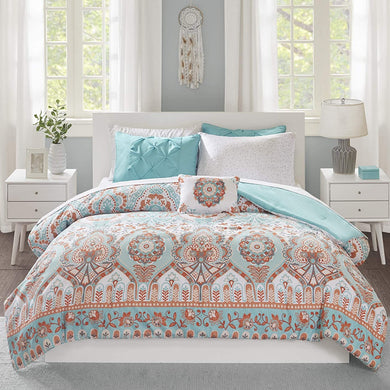 The Floral Paisley Aqua Bed Set - Tapestry Girls