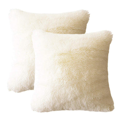 Velvet Plush Beige Pillows - Tapestry Girls