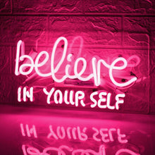 Load image into Gallery viewer, Believe In Yourself Neon Sign - Tapestry Girls