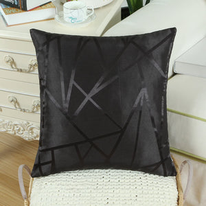 Metallic Décor Black Pillows - Tapestry Girls