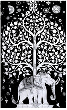 Load image into Gallery viewer, Elephant Black Tapestry - Tapestry Girls