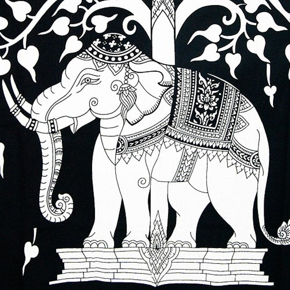 Elephant Black Tapestry - Tapestry Girls