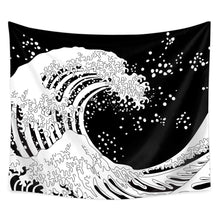 Load image into Gallery viewer, Black Wave Tapestry - Tapestry Girls