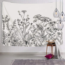 Load image into Gallery viewer, Black and White Floral Tapestry - Tapestry Girls