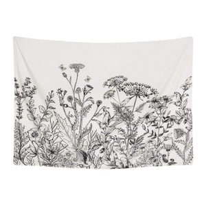 Black and White Floral Tapestry - Tapestry Girls