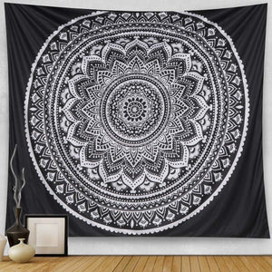 Black Mandala Tapestry - Tapestry Girls